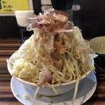 ラーメンつけ麺 笑福 - ラーメン(野菜マシマシ、それ以外全部マシ)♪