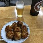 うまい屋 - たこ焼 withソースとビールの黄金セット