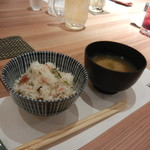 86774339 - おこわご飯とお味噌汁で〆
