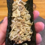 五十嵐 - 毛蟹の手巻き