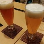 スモークビアファクトリー - TOKYO BLUES(左)、312ウィートエール(右)