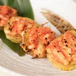 とめ手羽 - 山芋の明太チーズ焼き