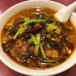 86778909 - 高菜入り牛バラ肉刀削麺