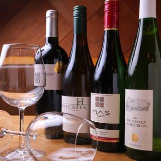 お酒も豊富!日本酒もワインもビールも色々◎