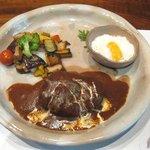 Wabisabiya - 黒毛和牛100%のハンバーグ(メイン)