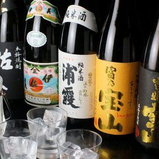 【馬刺し良く合う】芋焼酎、日本酒を豊富にご用意!