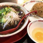 新福菜館 - ラーメンとヤキメシ小と生卵