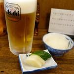 とき和 - 定食には、味噌汁、お新香、大根おろしが付きます