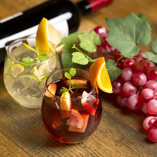 お料理との相性◎ワインのラインナップに自信あります!