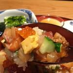 目黒魚金 - 海鮮バラちらし御膳1,706円
