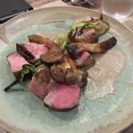 Bistro Vie - 鴨胸肉のロースト スモークマッシュルームのソース2018.05.28