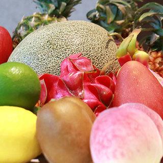 季節のフルーツ生搾り!