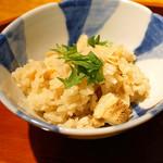 まる富 - 穴子と新生姜の炊き込みご飯