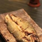 横浜 晋山 - 自家製の鮎の風干