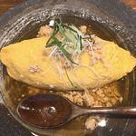 紙ひこうき - 料理写真:オムライス和風鶏そぼろ添え