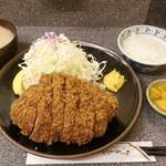 とんかつ檍 - リブロースかつ定食(380g)   2.800円