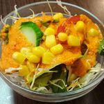 アジアン ダイニング アンド バー エベレスト - Asian Dining & Bar EVEREST @本蓮沼 ランチカレーセットに付くサラダ