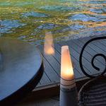 86808811 - 天橋立運河のほとりにあるカフェ