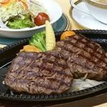 鉄板フィレステーキ180g  サラダ・パン又はライス付