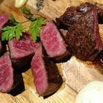 grilled beef winebar zuiji - ズイジーズグリル2人前(厳選赤身肉3種)熟成牛追加