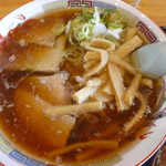 86817545 - 珍しい米沢牛の背油とおろしにんにくのスープ