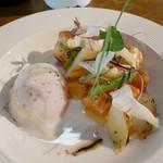 食堂ルインズ - (撮影 20180531)サーモンとアスパラのカルパッチョ…丁寧に作られていて、美味しい!