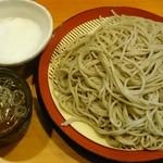 そば助大阪 堺店 - もりそば(大盛)の山芋トッピング
