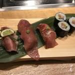 広島の黒毛和牛焼肉専門店 肉亭いちゆく - 牛握り4種盛り
