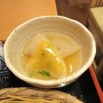 蕎麦酒家 笑よし - 柚子味噌こんにゃく