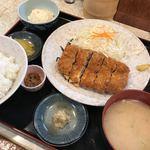 柳ばし - メンチかつ定食
