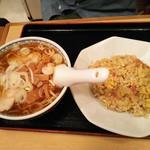 Shinkawataishoukenhanten - ラーメン半チャーハンセット