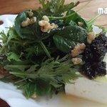 湯島食堂 - 豆腐にヒジキペースト