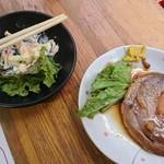 86833575 - 食べ掛けのマカロニサラダ&チャーシュー