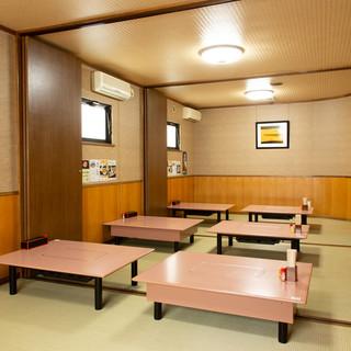 座敷は全席個室最大42名様グループもOK