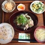 一心茶房 - 豚肉と野菜の味噌炒め