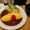 洋食の欧風軒 - 料理写真:オムライス&ハンバーグ