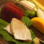 86839359 - 味噌と野菜、マグロと小鯛