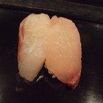 大将寿司 - 大将おまかせ寿司3,675円。カンパチ、黒鯛。