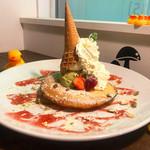カフェ パンプルムゥス - 6月限定!ピスタチオのパンケーキ