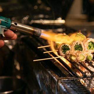 【当店のおすすめ料理】一押しの野菜巻き串!