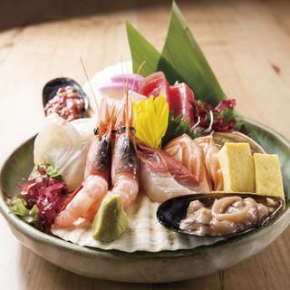 【産地直送!】酒肴や一丁まえ自慢の新鮮な刺身海鮮!