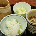 麻布 幸村 - 豆ご飯、赤だし、香の物