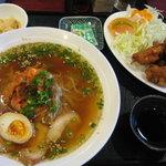天心軒 - 「天心軒」 冷麺ミニとり天セット 1,050円