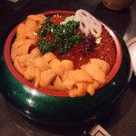 山さん寿司 - うにいくら丼3,150円。