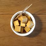 燻製チーズの醤油漬け