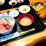 すぎ屋 - おまかせすぎ屋丼¥880&アジフライ