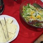 インドレストラン バーワルチー - パパド&サラダ