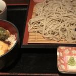 石井のお蕎麦 - ミニ生ゆば天丼