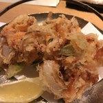 旬の味 たき下 - 桜海老の掻き揚げ