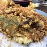 豊野丼 - 鯨天丼 丼アップ